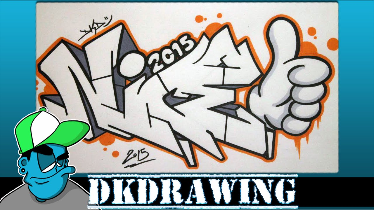 1280x720 How To Draw Graffiti Letters Nice Step By Step