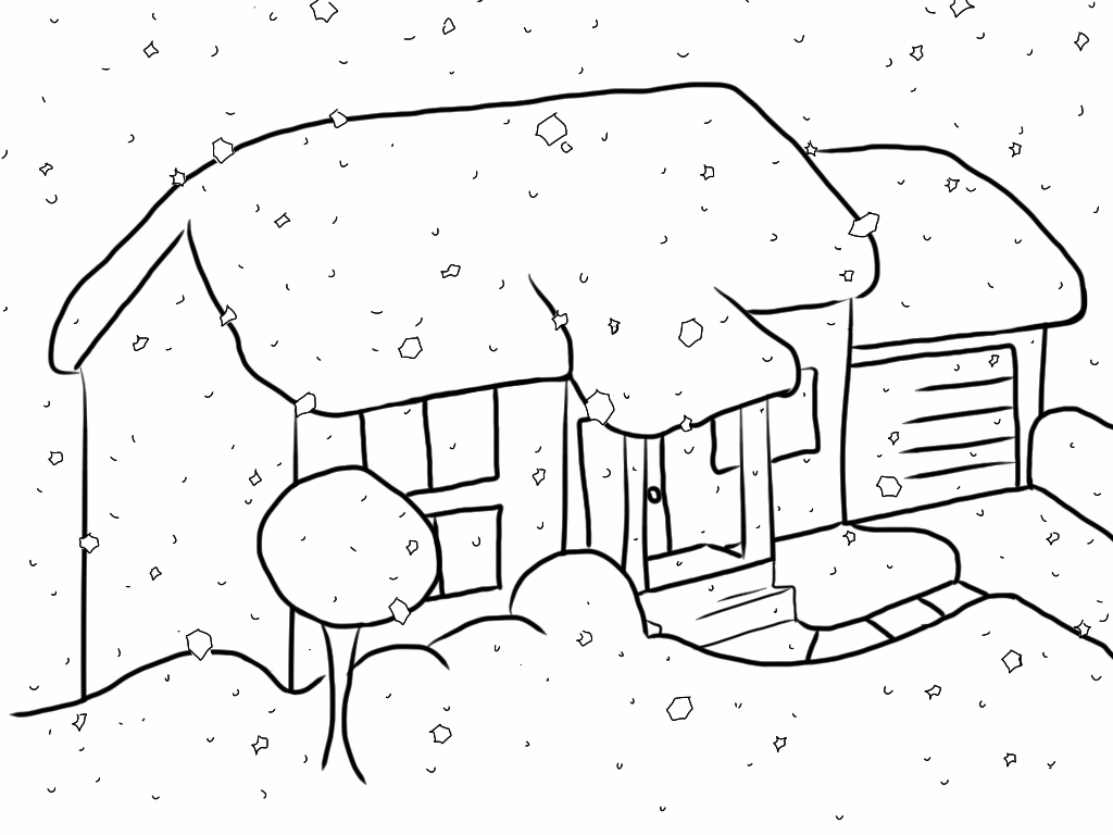 1024x768 Collection Of Drawing Of Snow High Quality, Free Cliparts