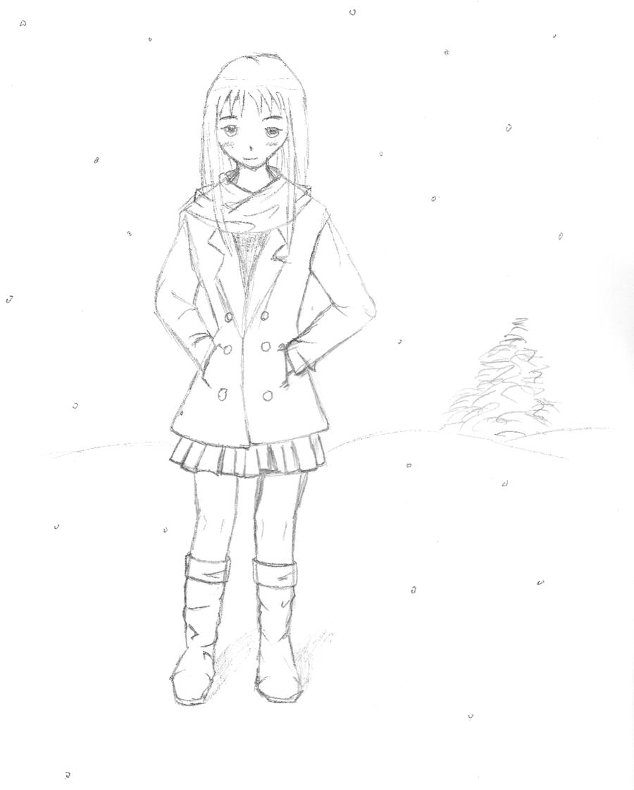 900x1121 Girl In Snow