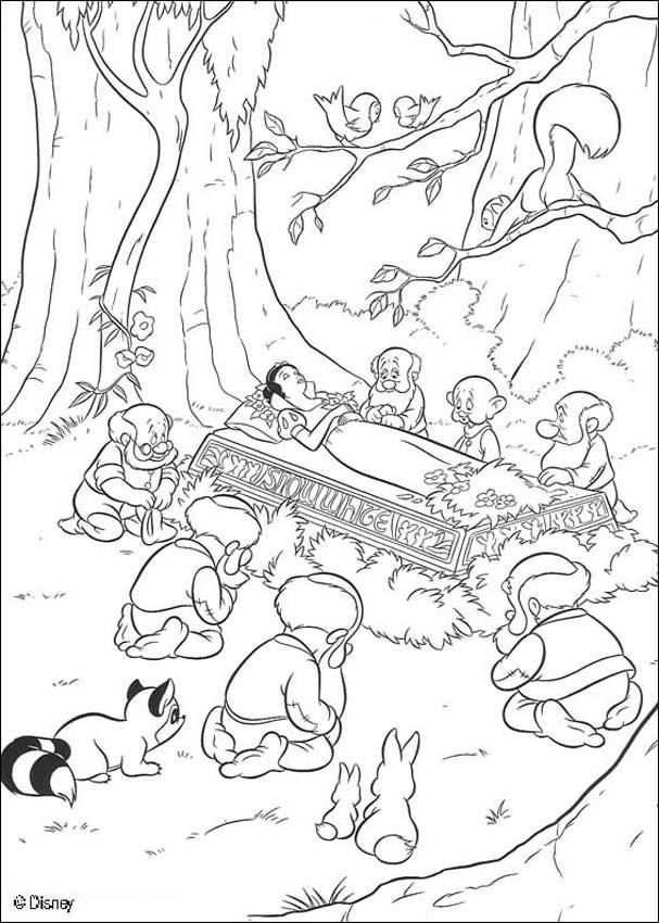 607x850 Coloring Page About Snow White Disney Movie. Nice Drawing Of Snow
