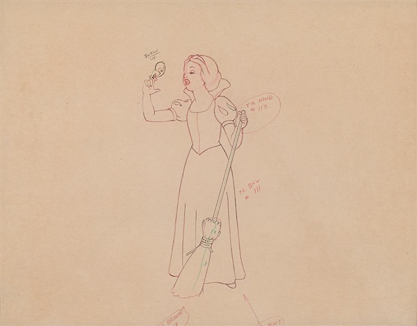 600x470 An Animation Drawing Of Snow White From Snow White And The Seven