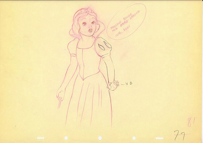 689x486 Animation Cel Drawing Of Snow White Animation Art
