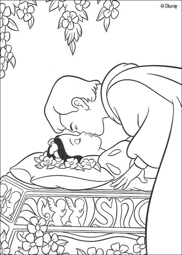 607x850 Coloring Page About Snow White Disney Movie. Nice Drawing