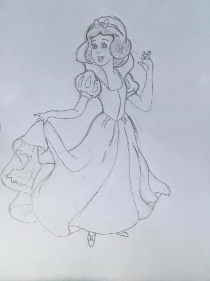 720x960 Pencil Sketch 3 Snow White By Cart00nman95