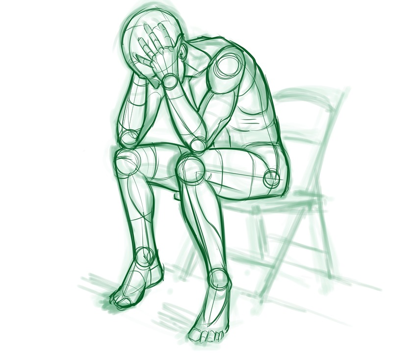 How To Draw A Boy Sitting Alone