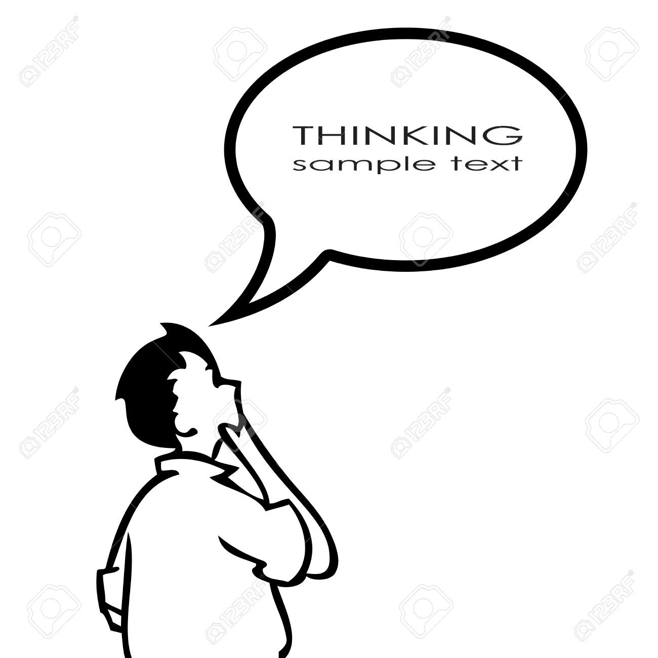 1300x1300 Person Thinking With Thought Bubble Clipart Writings And Essays