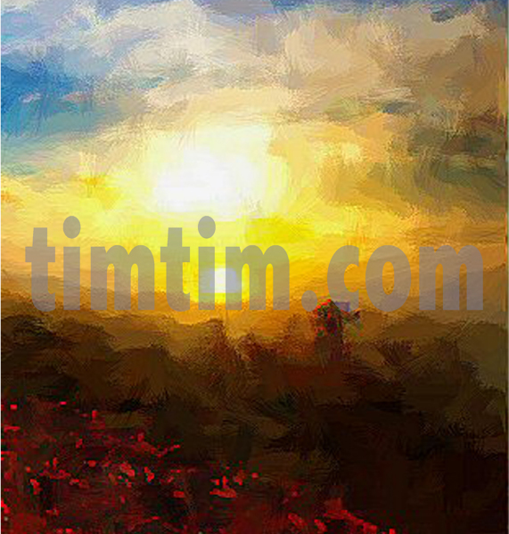 571x599 Free Drawing Of Old Masters Sunset From The Category Backgrounds