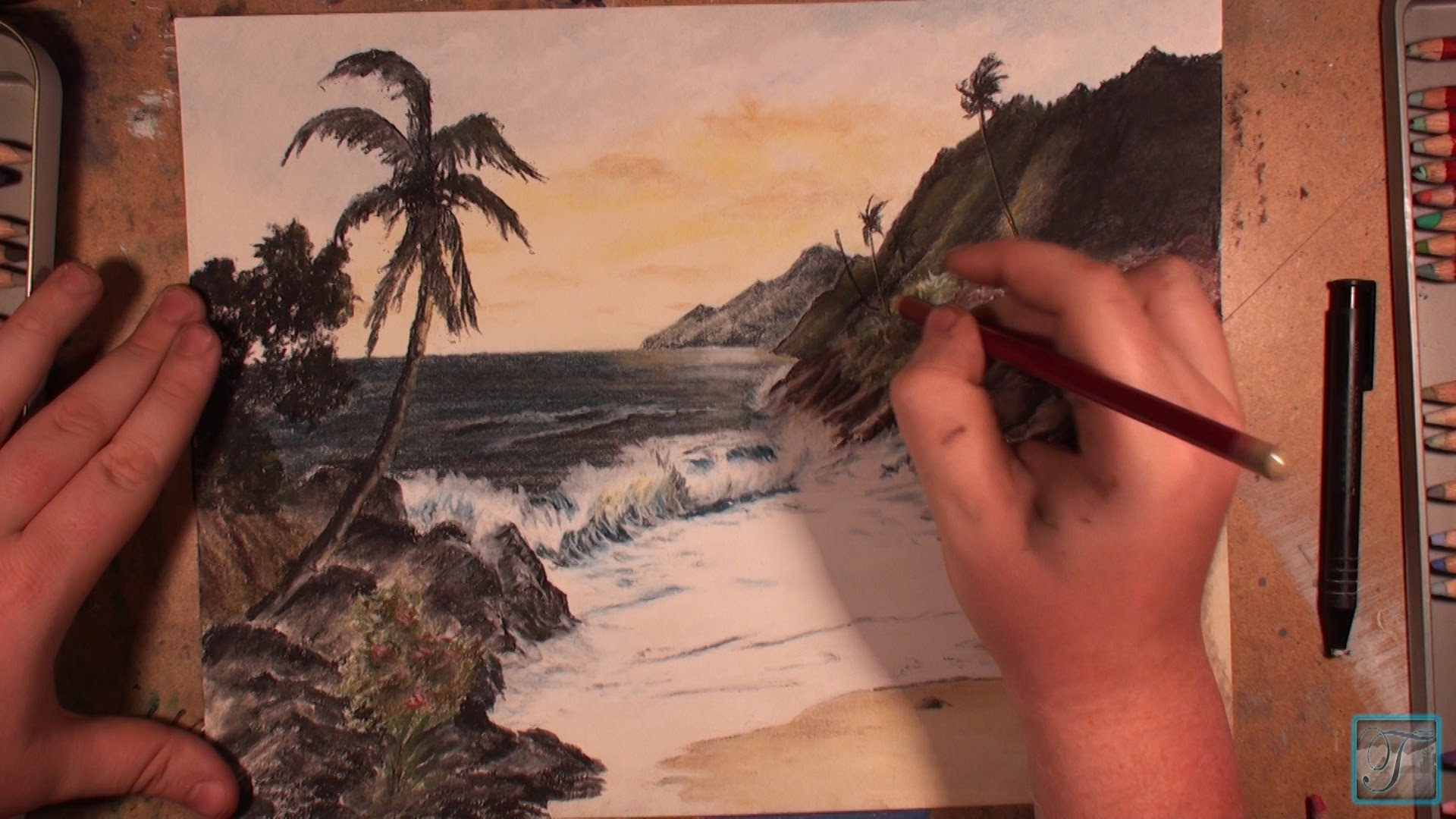 1920x1080 How To Draw A Hawaiian Sunset