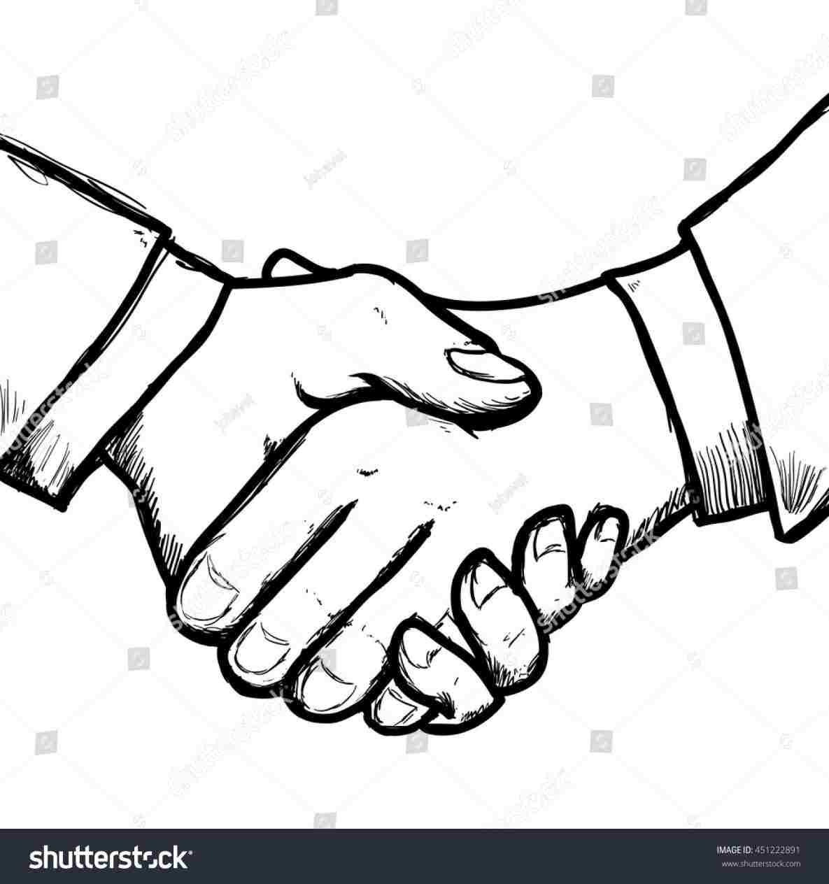 1185x1264 Picture How To Draw People Shaking Hands Of Two Group Rhyimcom