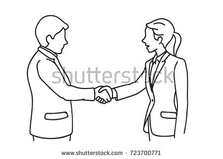 450x320 Collection Of Two People Shaking Hands Drawing High Quality