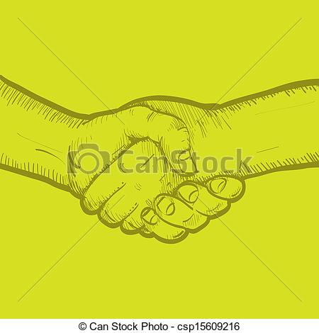 450x470 Sketch Of Two Shaking Hands Clipart