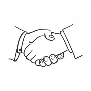 300x300 Hand Draw Doodle Handshake Vector Arenawp