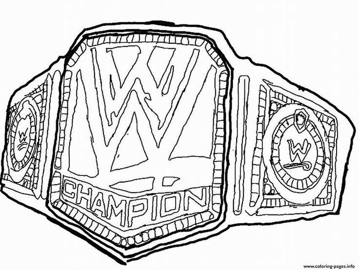 736x554 Wrestling Belt Coloring Pages Wrestling Belt Drawing