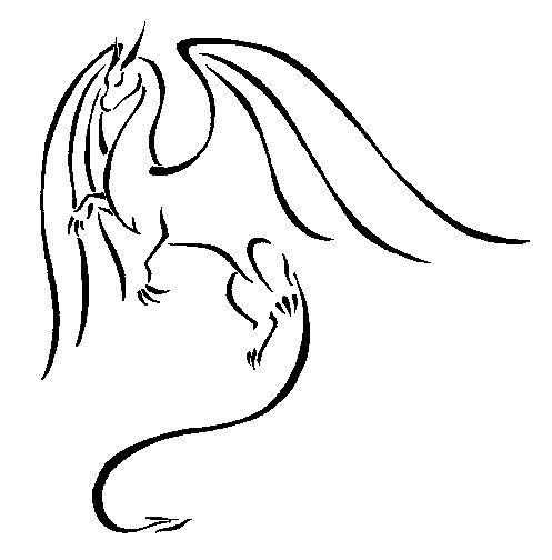 497x504 Dragon Logo Book Dragon Simple Dragon Drawings Tattoo Dragon