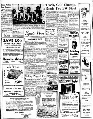 313x400 Denton Record Chronicle From Denton, Texas On March 16, 1951 Page 8