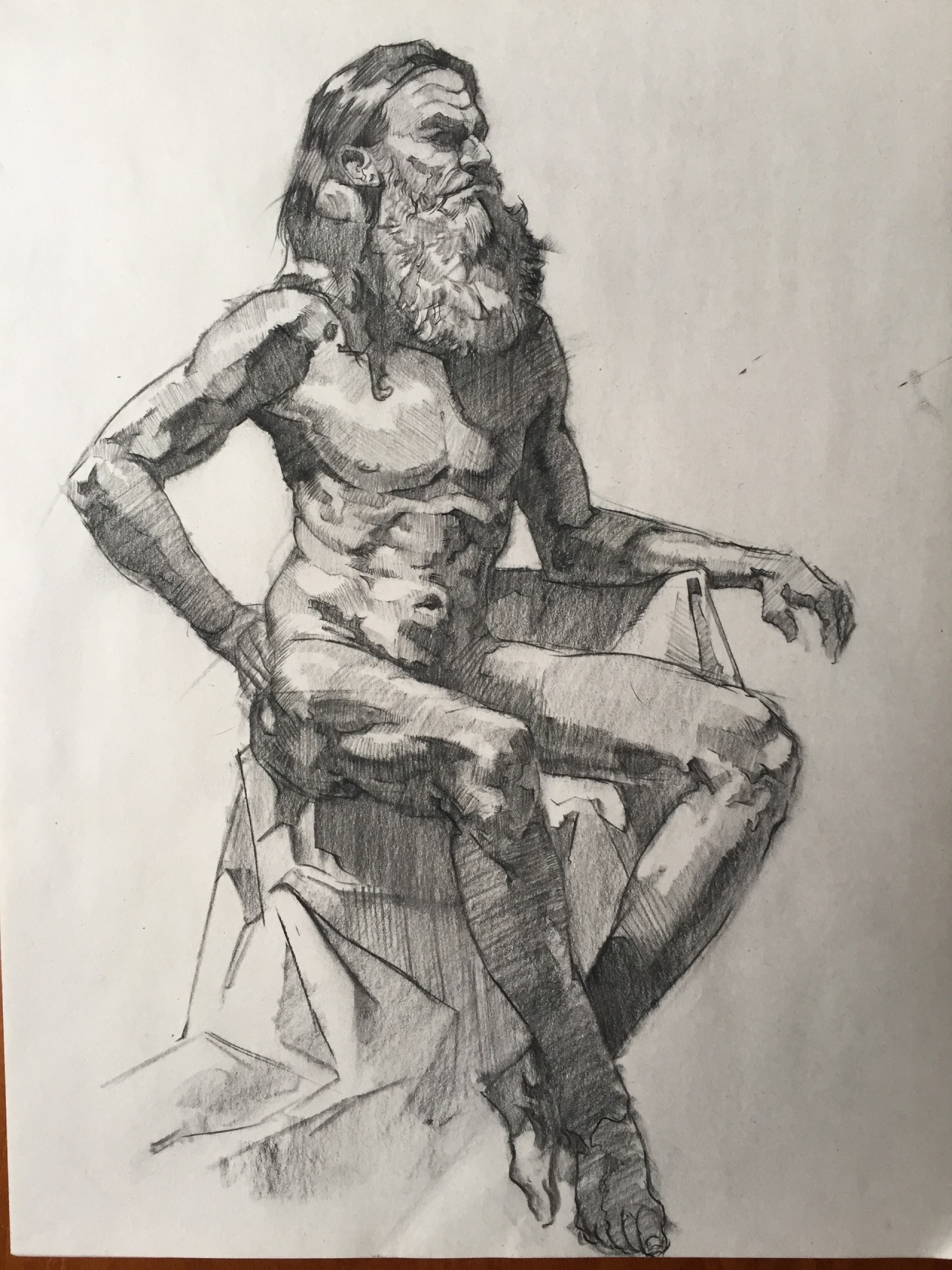 1280x1707 Art Of Andrew Sides 1.5 Hour Figure Drawing, Conte And Charcoal
