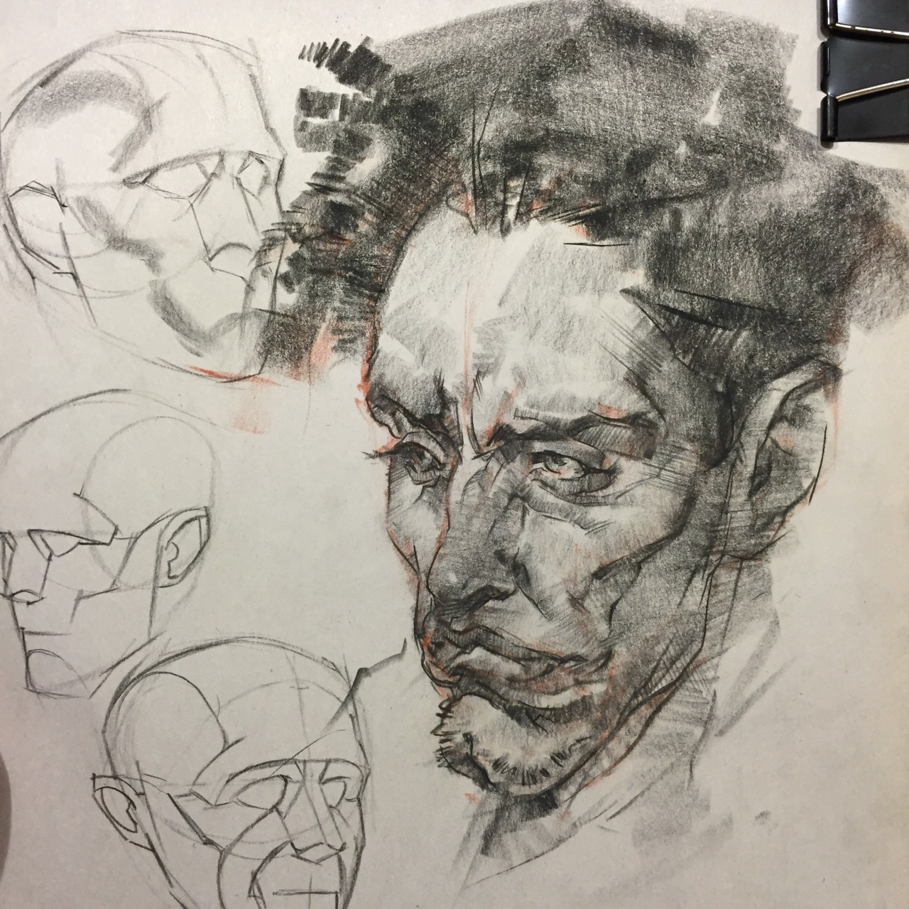1280x1280 Art Of Andrew Sides Study Of A Fechin Drawing, Charcoal On Newsprint