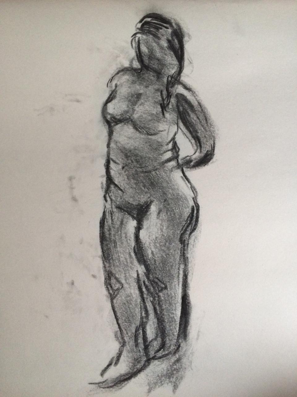 960x1280 Live Drawings Charcoal On Newsprint Artsy Behavior