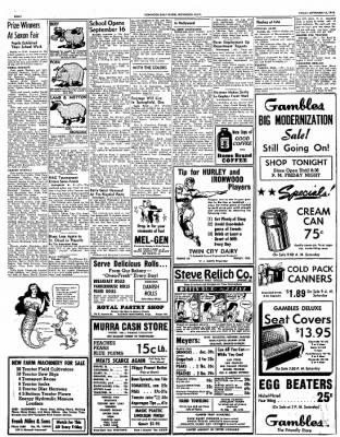 312x400 Ironwood Daily Globe From Ironwood, Michigan On September 13, 1946