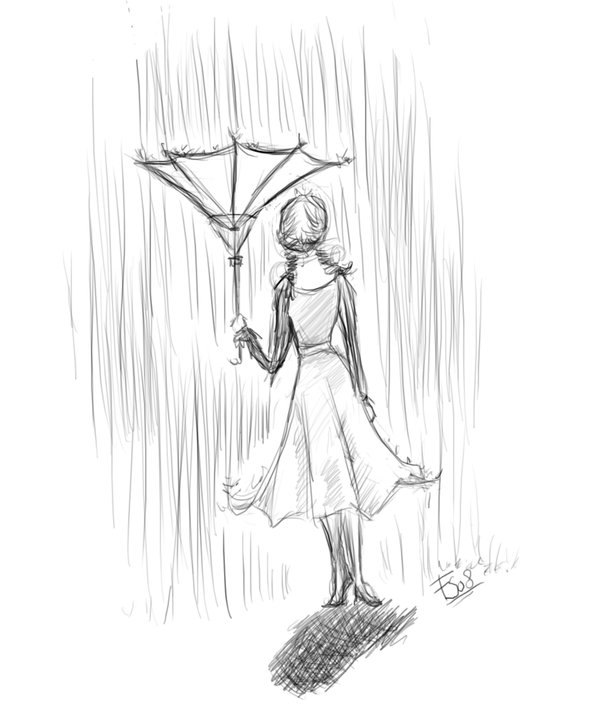 Drawing Picture Of Umbrella