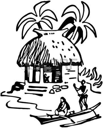 363x450 Image Result For Tiki Hut Drawing Tiki Torch Tiki Hut