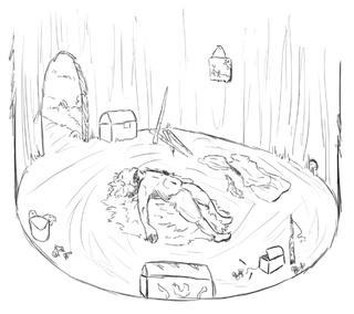 320x284 Inside The Hut I Drew (It's Very Small)