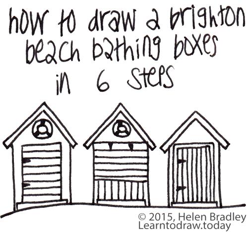 500x468 Beach Hut Learn To Draw