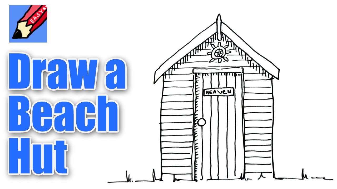 1280x720 How To Draw A Beach Hut Real Easy