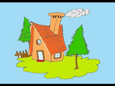 480x360 How To Draw A Beautiful Hut