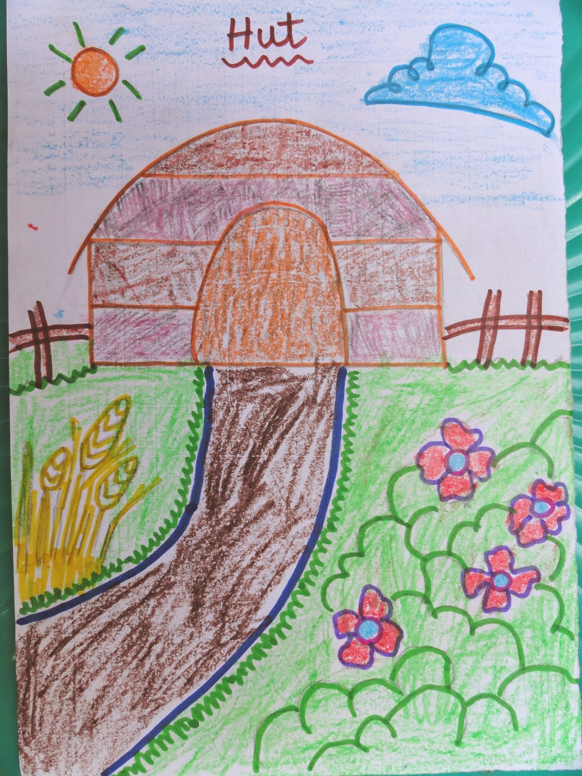 1200x1600 Hut Facts And Drawing For Kids Virtual Kidspace