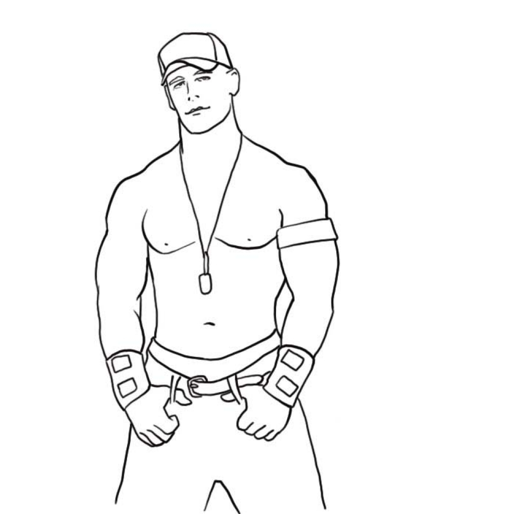 1024x1024 Collection Of Easy Drawing Of John Cena High Quality, Free