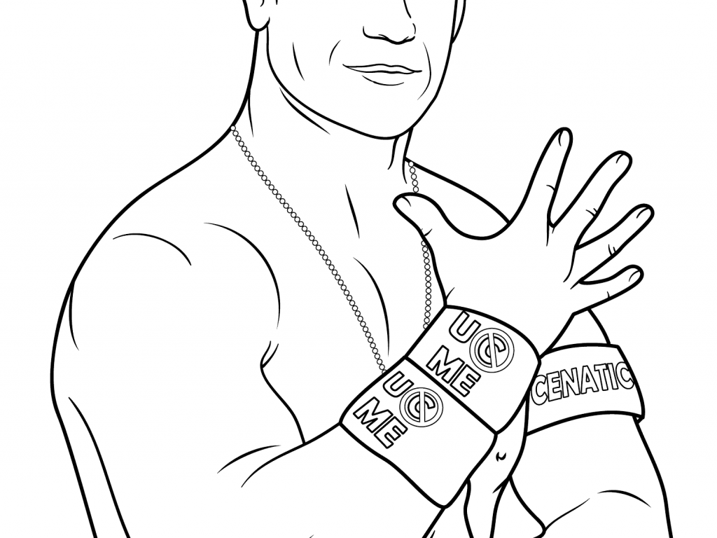 1024x768 John Cena Coloring Pages To Print Coloring To Funny John Cena