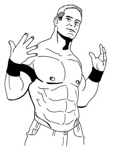 369x480 John Cena Coloring Pages Sketch Template Copic Stencils