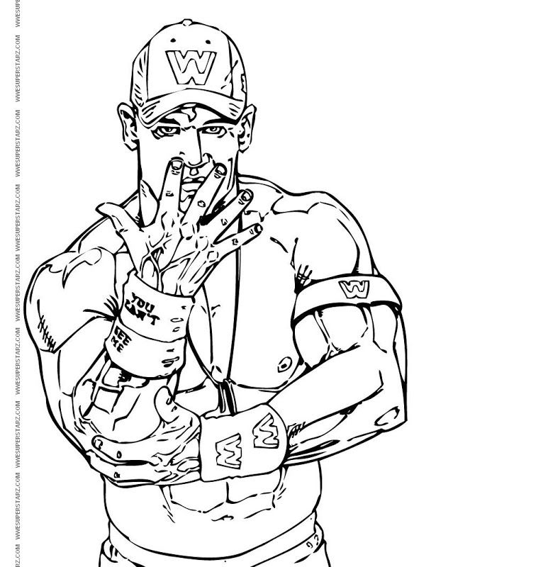 773x800 John Cena Coloring Pages Fun Time