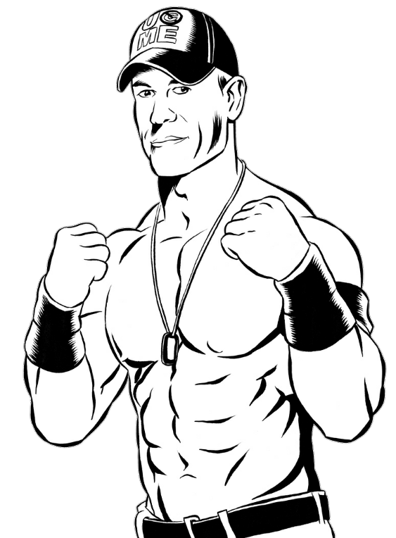 563x764 John Cena Wwe Drawing By Nuruddinayobwwe