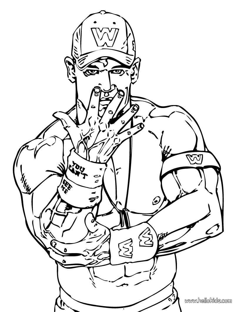 820x1060 John Cena Coloring Pages