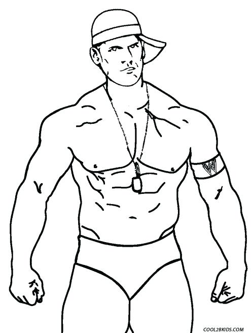 495x656 Beautiful Wwe Coloring Pages John Cena For Page Professional
