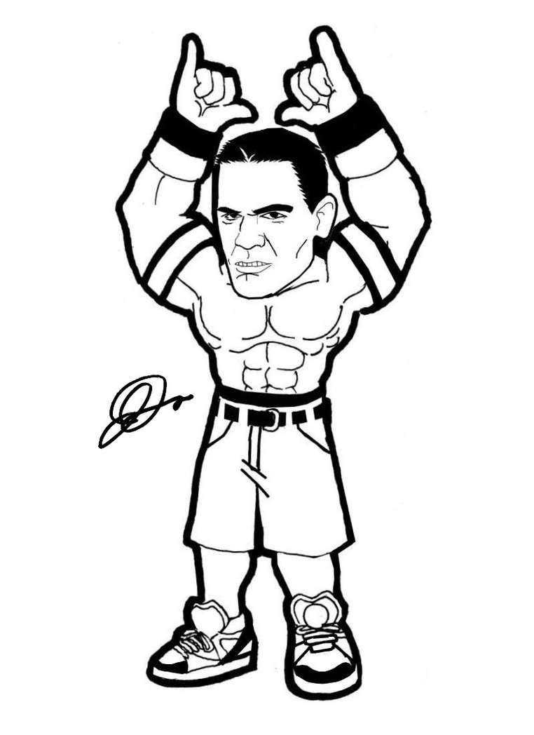 762x1048 Draw John Cena In Cartoon John Cena Cartoon Drawing Drawing