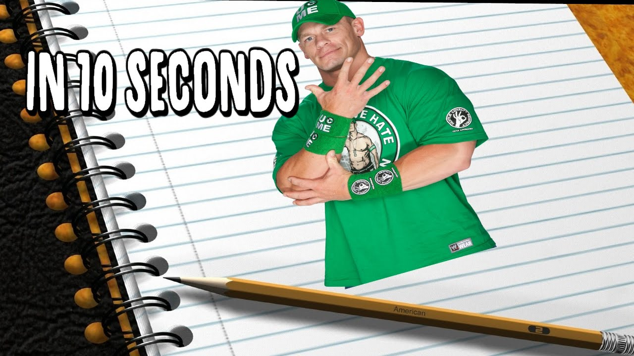 1280x720 How To Draw John Cena In Under 10 Seconds