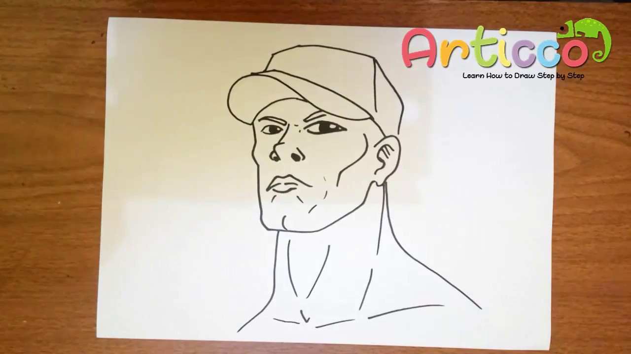 1280x720 How To Draw John Cena Step By Step