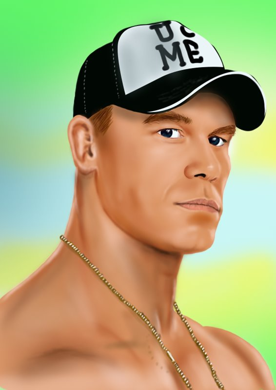 566x800 Learn How To Draw John Cena (Wrestlers) Step By Step Drawing