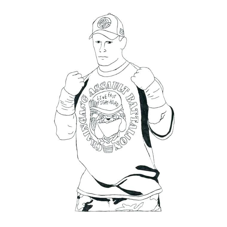 760x760 John Cena Coloring Pages Free Printable John Coloring Pages Kids