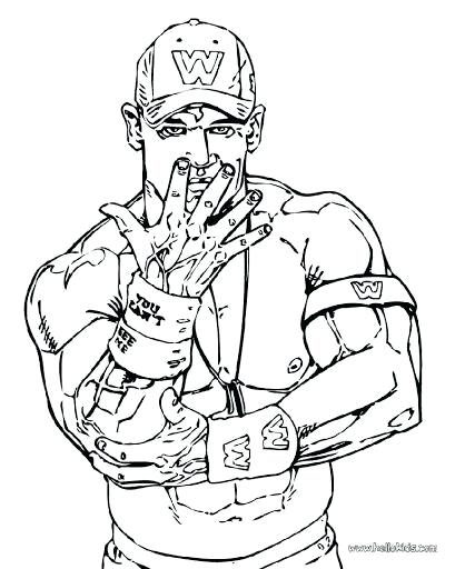 409x512 John Cena Coloring Pages Printable To Print Wwe Colouring