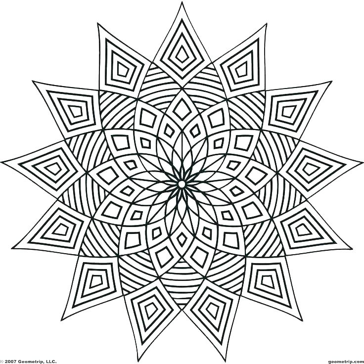 736x736 Free Design Coloring Pages Geometrical Design Coloring Pages