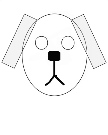 360x450 Collection Of Drawing A Dog Using Shapes High Quality, Free
