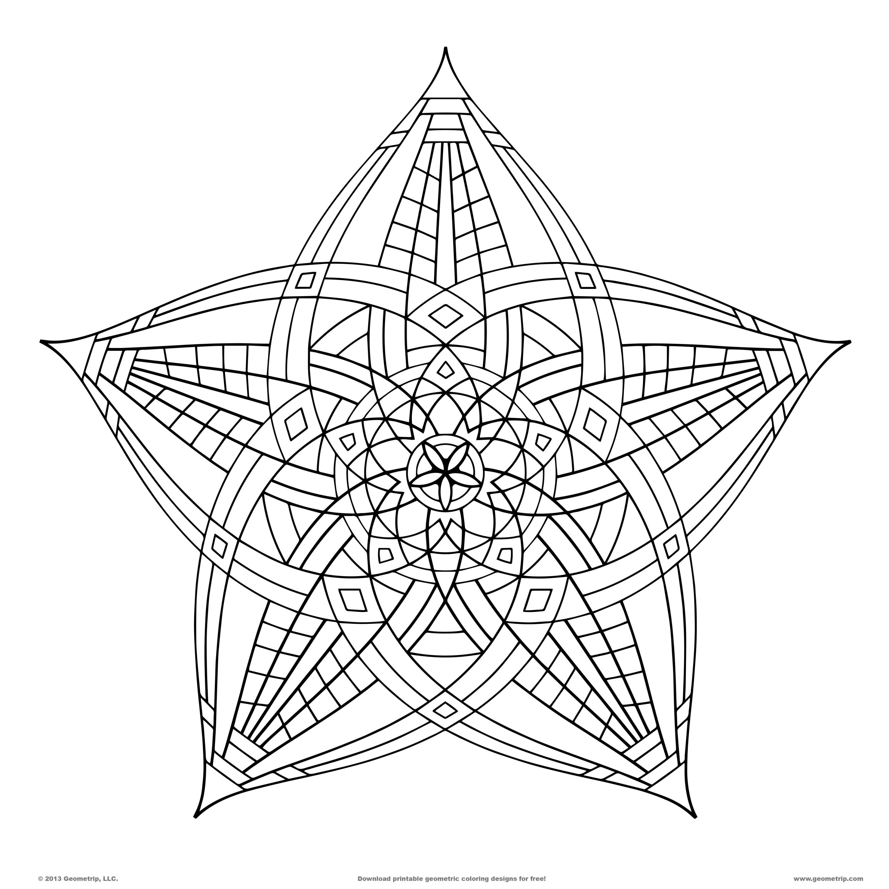 3000x3000 Geometric Shapes To Color Free Free Coloring Sheets