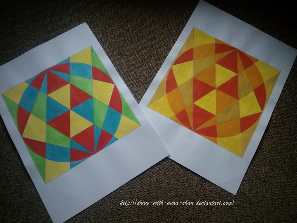 1024x768 Abstract Geometric Shapes. By Draw With Mira Chan