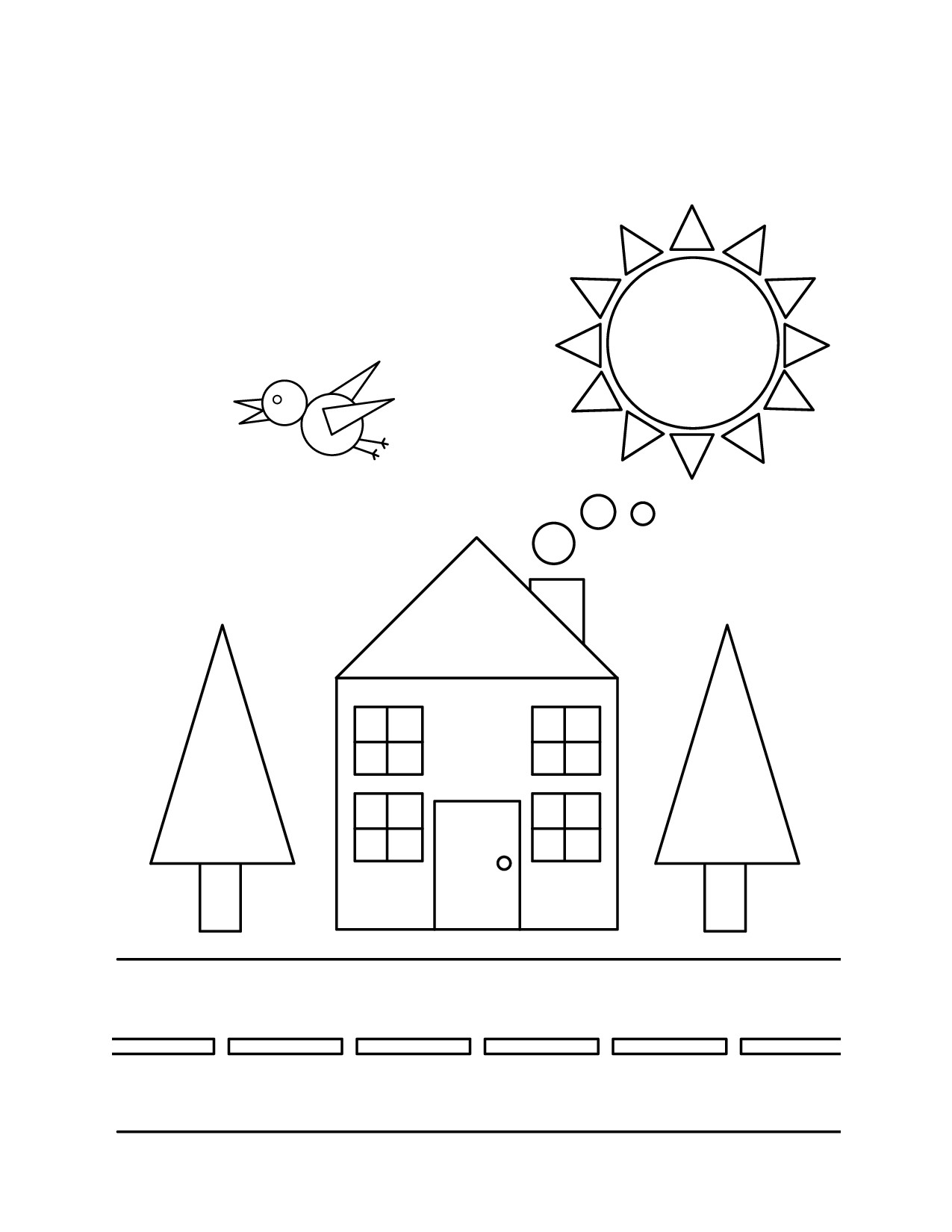 1275x1650 Basic Geometric Shapes Coloring Pages