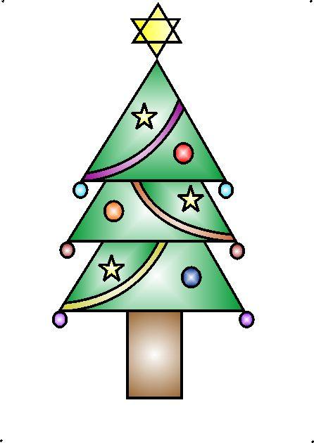 446x630 How To Draw A Decorative Christmas Tree Using Geometrical Shapes