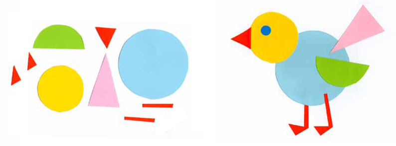794x294 New How To Make A Bird Using Geometric Shapes
